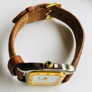 Vintage Peugeot leather band watch